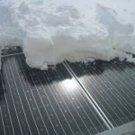 Zonnepanelen sneeuw